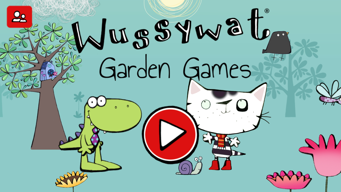 Wussywat Garden Games Splash page
