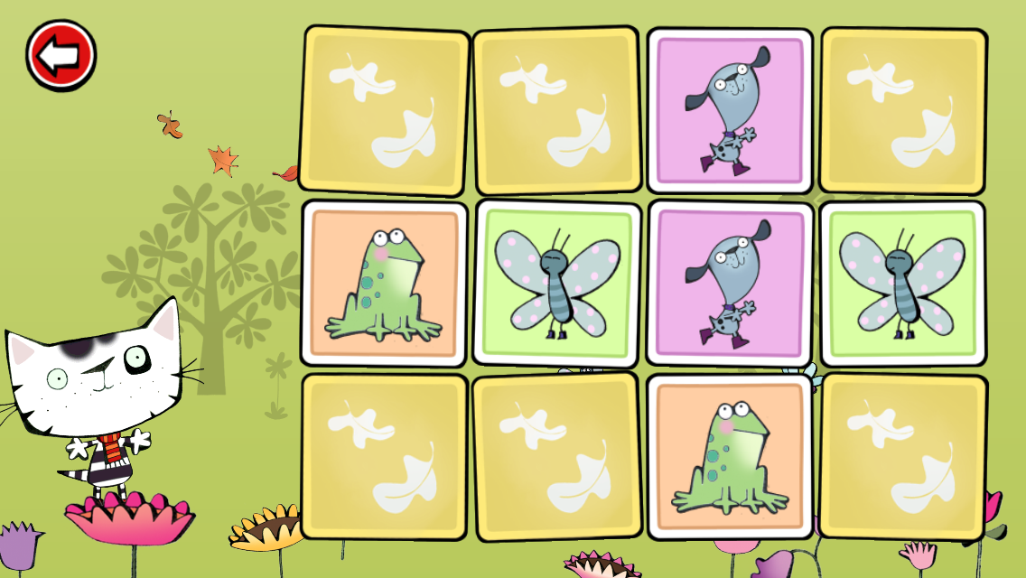 Wussywat Garden Games game screen