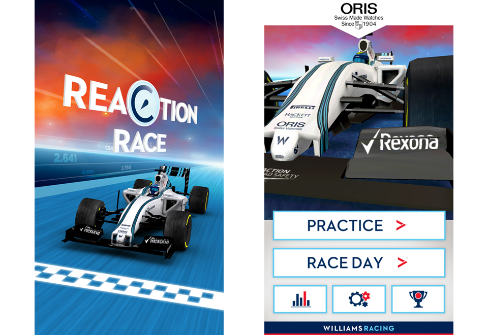 Oris Reaction Race Williams F1 racing