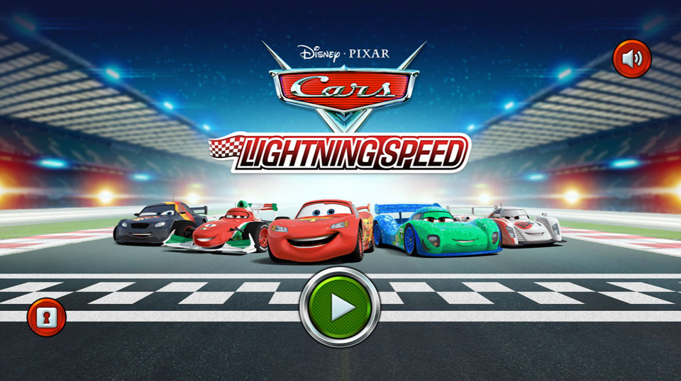 Disney Cars Lightning Speed splash