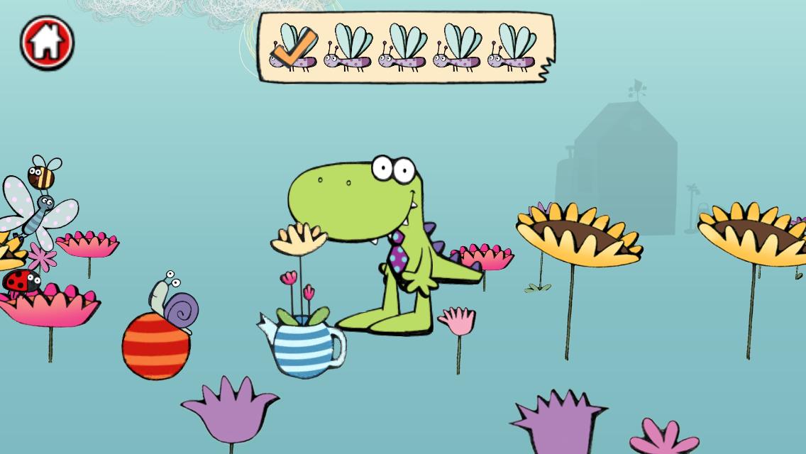 Wussywat Garden Games game screen