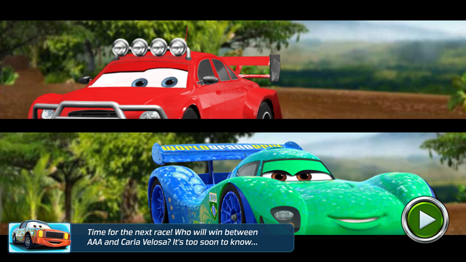 Disney Cars Lightning Speed cutscene