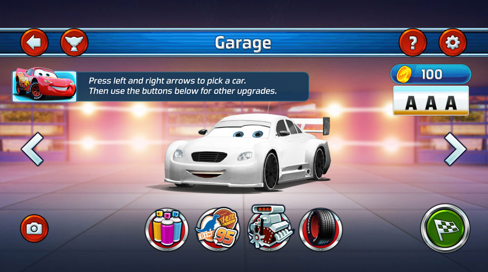 Disney Cars Lightning Speed garage