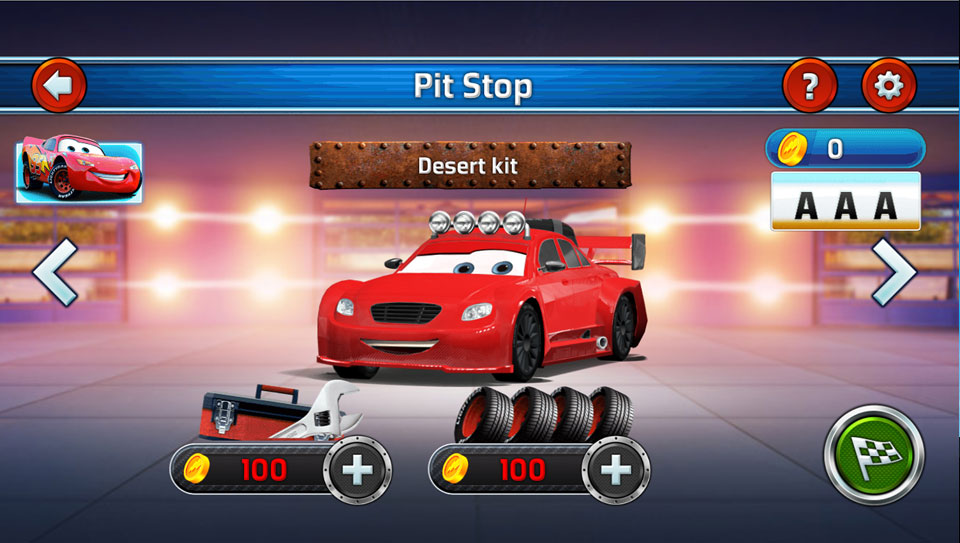 Disney Cars Lightning Speed pitstop2