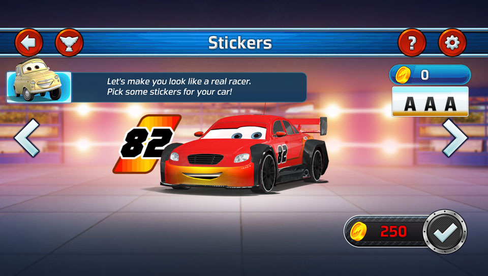 Disney Cars Lightning Speed stickers